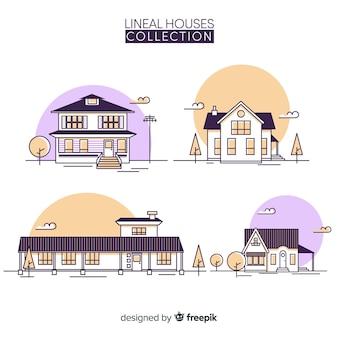 Collection de logements en style linéaire