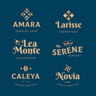 Collection de logo d'accessoires de mode design plat