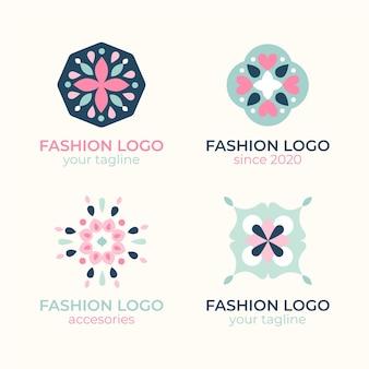 Collection De Logo D'accessoires De Mode Plat Vecteur gratuit