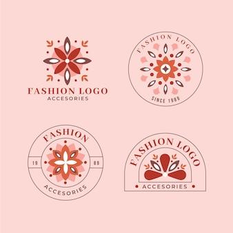 Collection de logo d'accessoires de mode plat