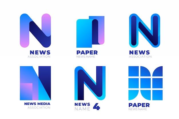 Collection de logo d'actualités