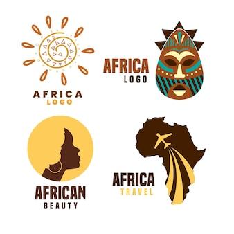 Collection de logo afrique
