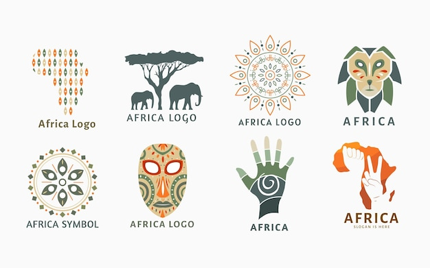 Collection de logo afrique