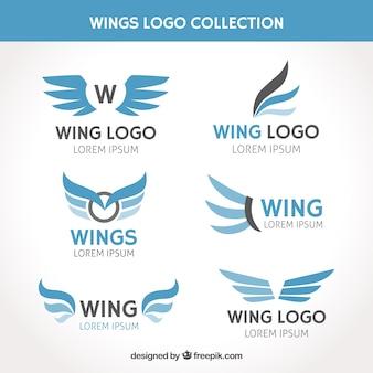 Collection de logo avec des ailes