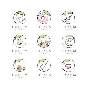 Collection de logo alimentaire