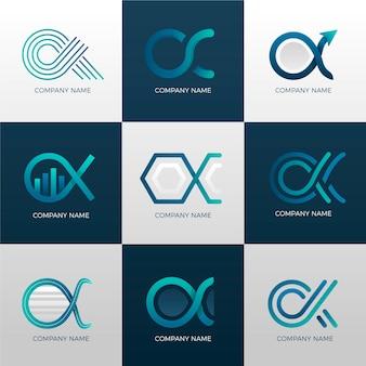 Collection de logo alpha dégradé
