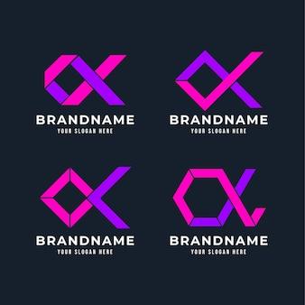 Collection de logo alpha plat