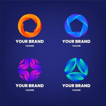 Collection de logo alphabétique lettre o