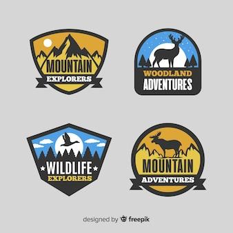 Collection de logo d'aventure