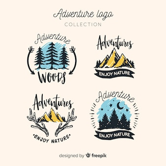 Collection de logo d'aventure