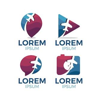 Collection de logo d'avion