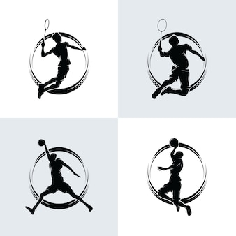 Collection de logo de badminton et de basket-ball