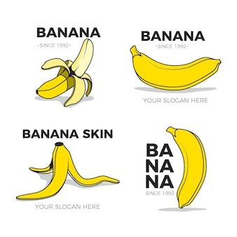 Collection de logo de banane