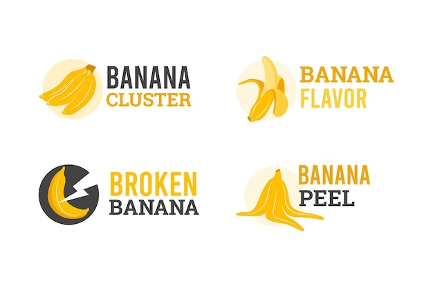 Collection de logo de banane