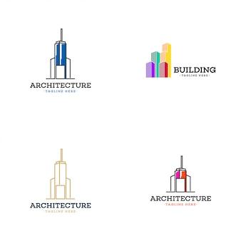 Collection de logo de bâtiment