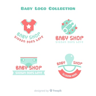 Collection de logo de bébé