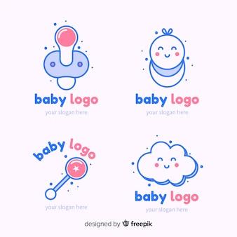 Collection de logo de bébé