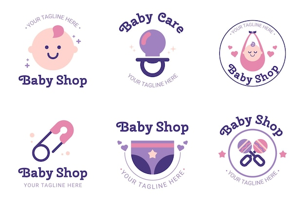 Collection de logo bébé