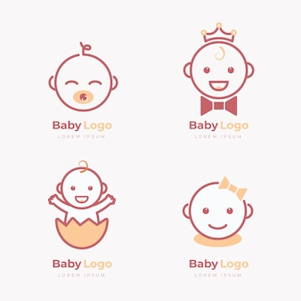 Collection de logo bébé