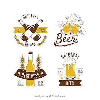 Collection de logo de bière vintage