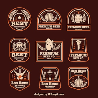 Collection de logo de blé plat