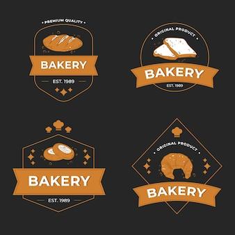 Collection de logo de boulangerie rétro