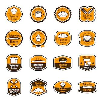 Collection de logo de boulangerie