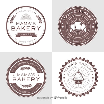 Collection de logo de boulangerie
