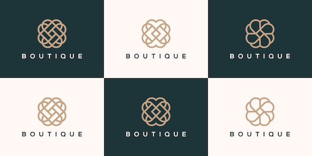 Collection de logo de boutique