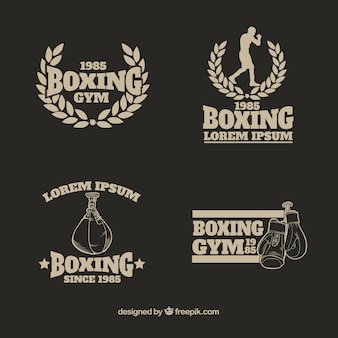 Collection de logo de boxe gym