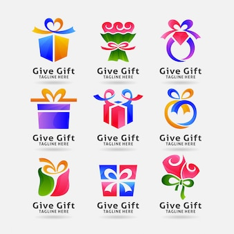 Collection de logo cadeau