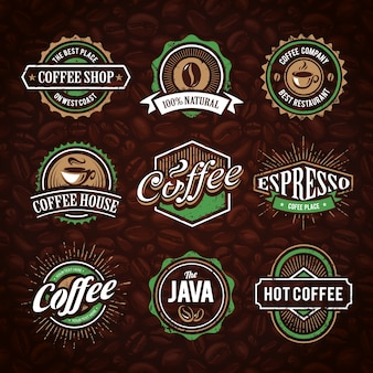 Collection de logo de café