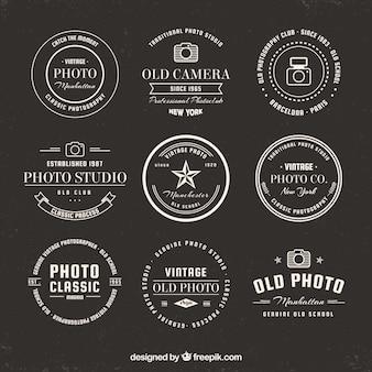 Collection de logo de caméra classique