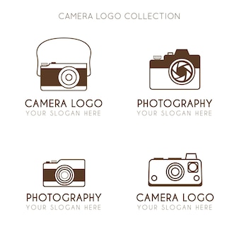 Collection de logo de caméra minimaliste vintage