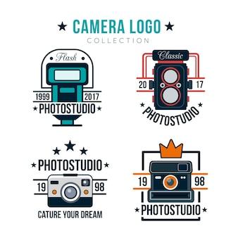 Collection de logo de caméra vintage