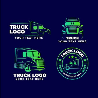 Collection de logo de camion dégradé