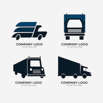 Collection de logo de camion plat