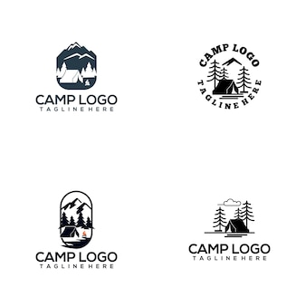 Collection de logo de camp