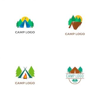 Collection de logo de camp