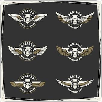 Collection de logo de club de moto et garage