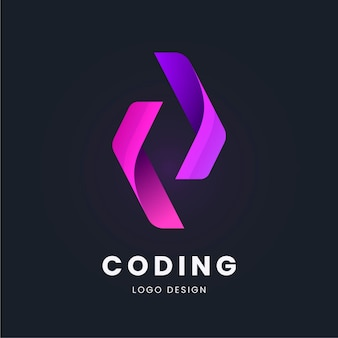 Collection de logo de code plat