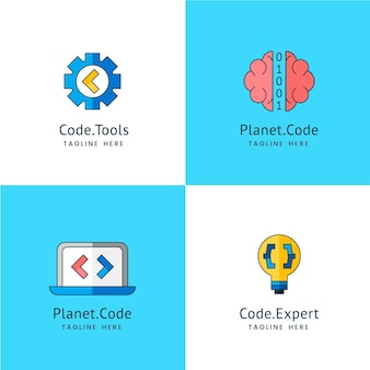 Collection de logo de code