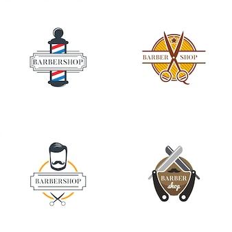 Collection de logo de coiffeur
