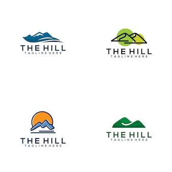La collection de logo de colline