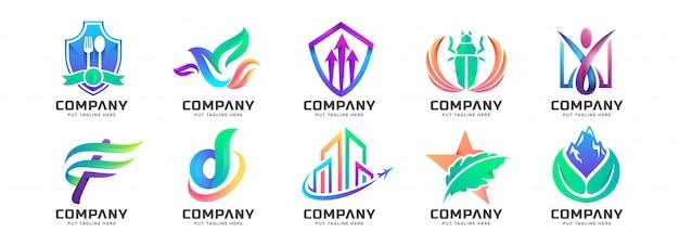 Collection de logo coloré abstrait