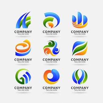 Collection de logo commercial abstrait