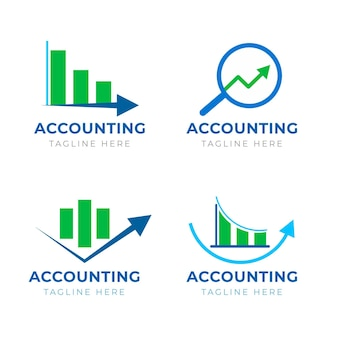 Collection de logo comptable plat