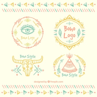 Collection logo dans le style boho