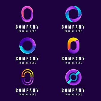 Collection de logo dégradé créatif o