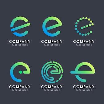 Collection de logo dégradé e